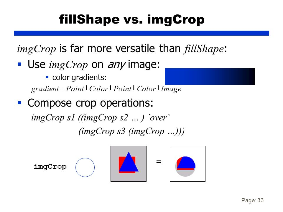 Page: 33 fillShape vs.
