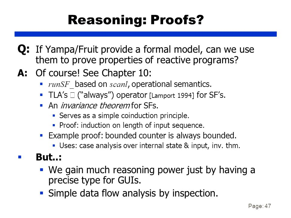 Page: 47 Reasoning: Proofs.
