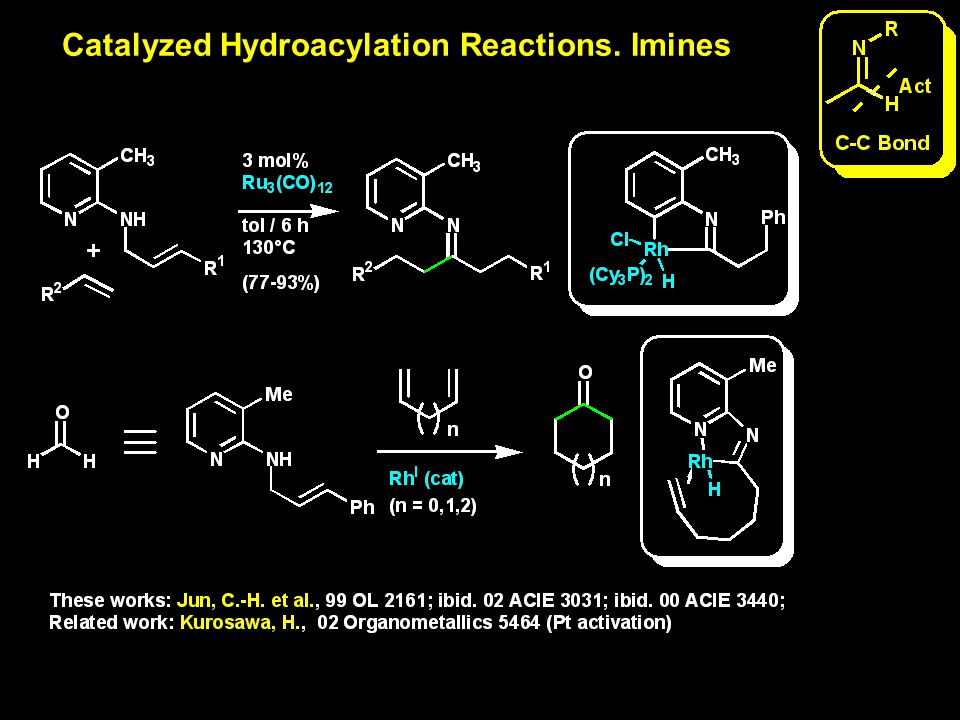 Catalyzed Hydroacylation Reactions. Imines