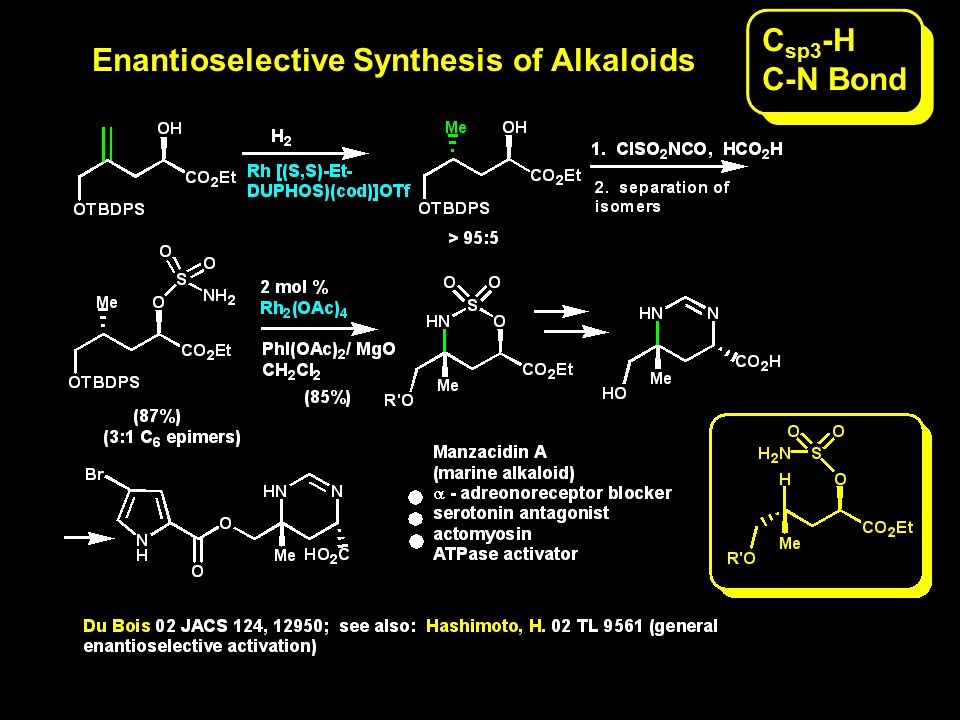 Enantioselective Synthesis of Alkaloids C sp3 -H C-N Bond