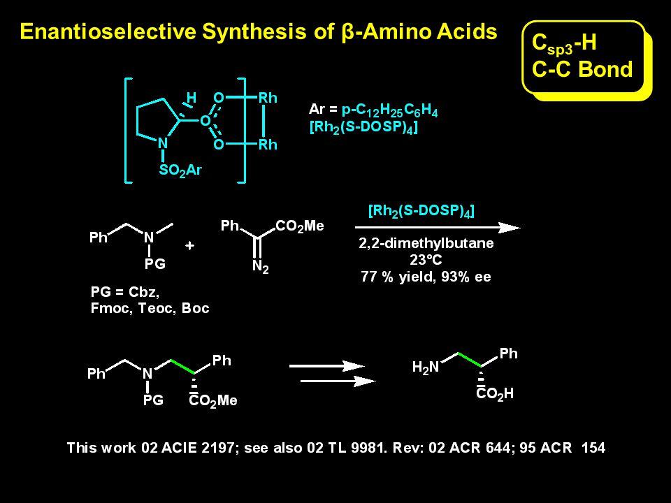 Immobilized di-Rh Complex for Asymmetric C-H Activation C sp 3 -H C-C Bond
