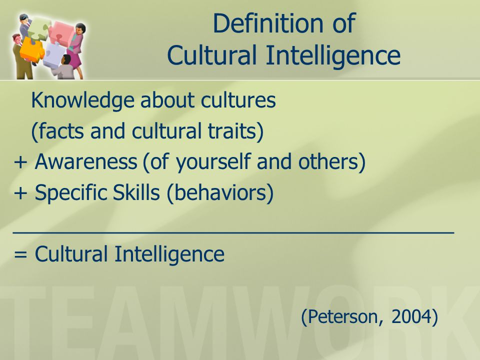 Cultural Self-Assessment Rate yourself