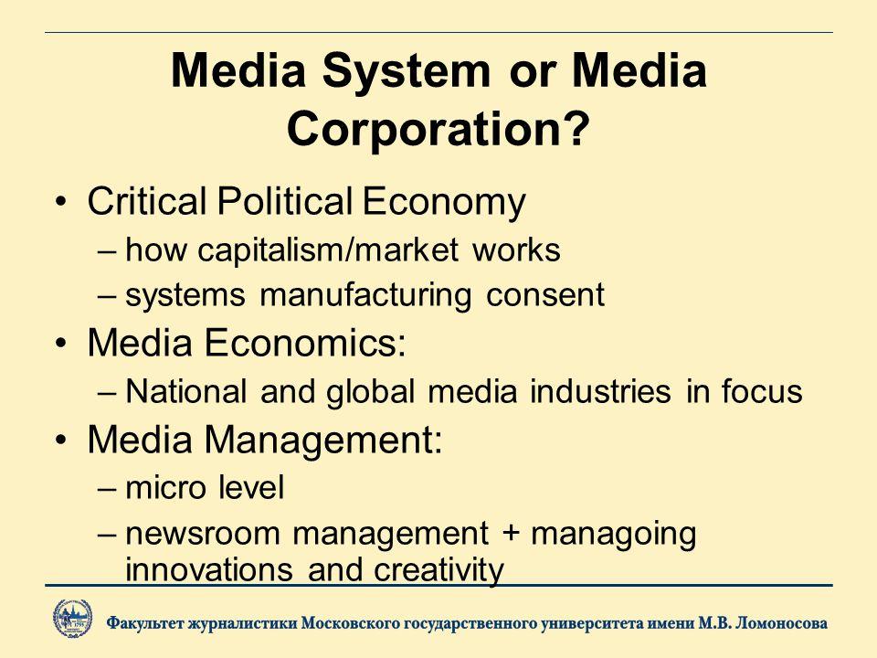 Media System or Media Corporation.