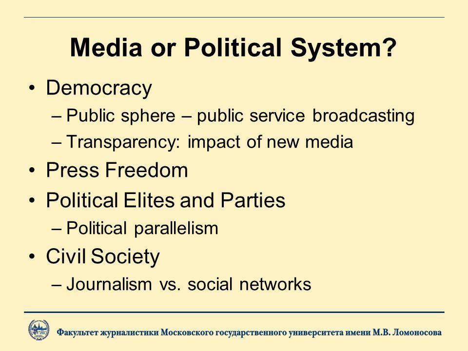 Media or Political System.