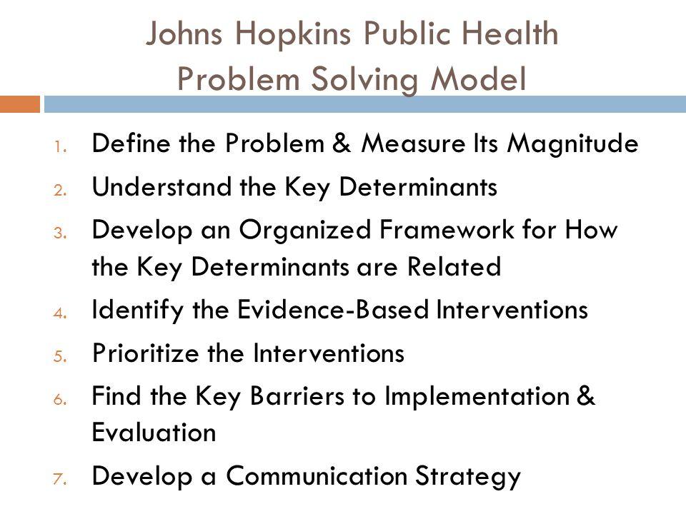Johns Hopkins Public Health Problem Solving Model 1.