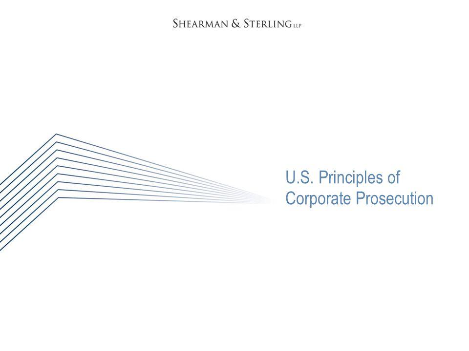 U.S. Principles of Corporate Prosecution