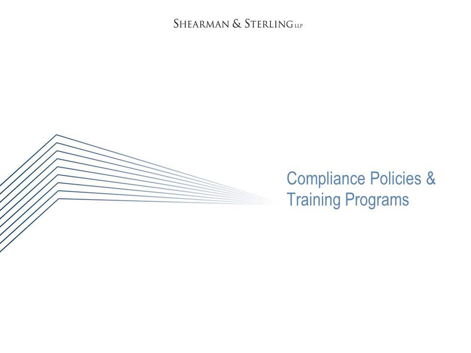 Compliance Policies & Training Programs