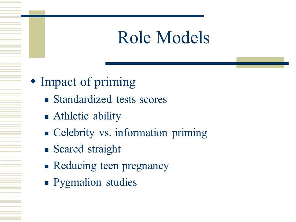 Role Models  Impact of priming Standardized tests scores Athletic ability Celebrity vs.