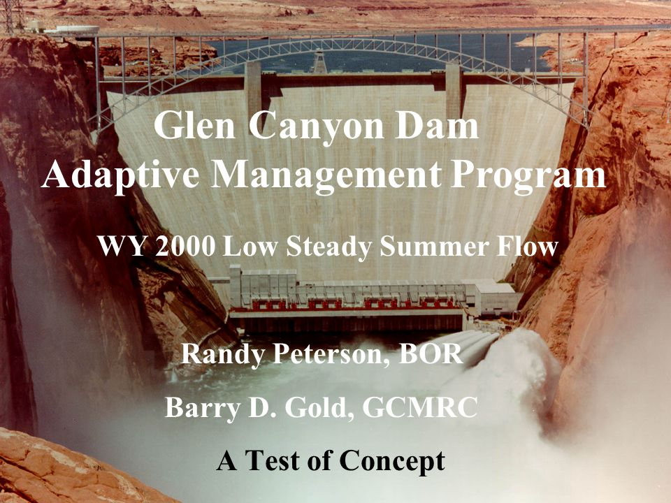 Glen Canyon Dam Adaptive Management Program WY 2000 Low Steady Summer Flow Randy Peterson, BOR Barry D. Gold, GCMRC A Test of Concept