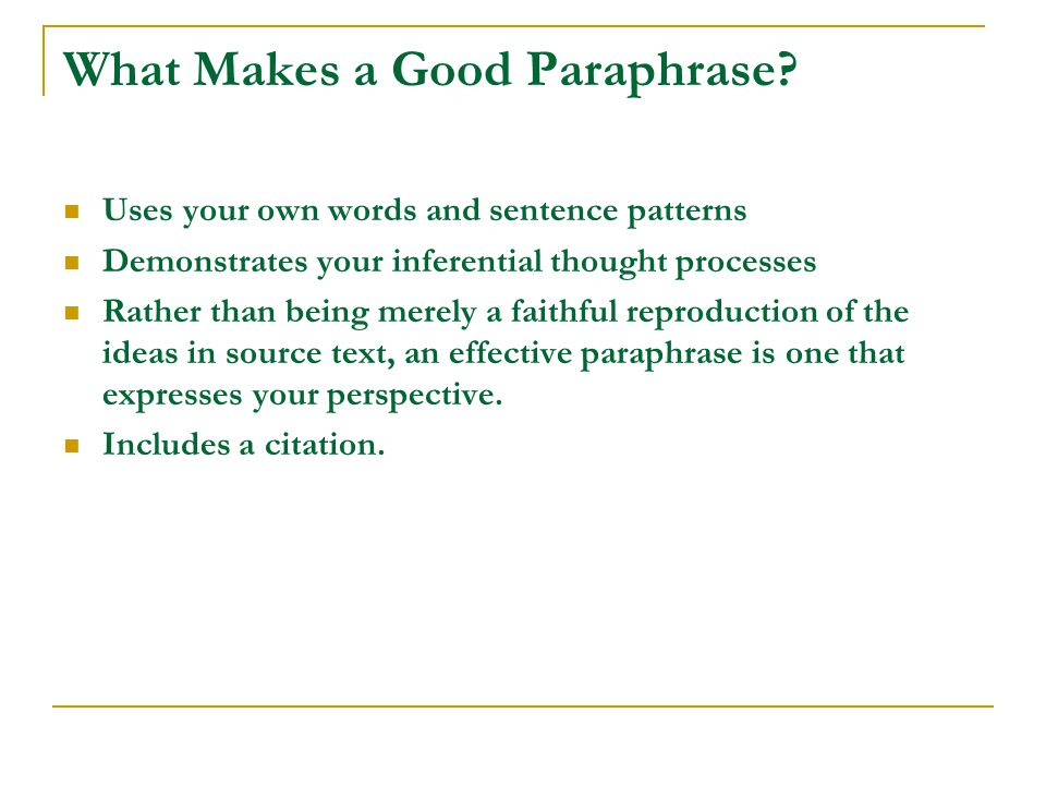 What Makes a Good Paraphrase.