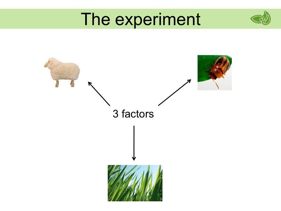 3 factors The experiment