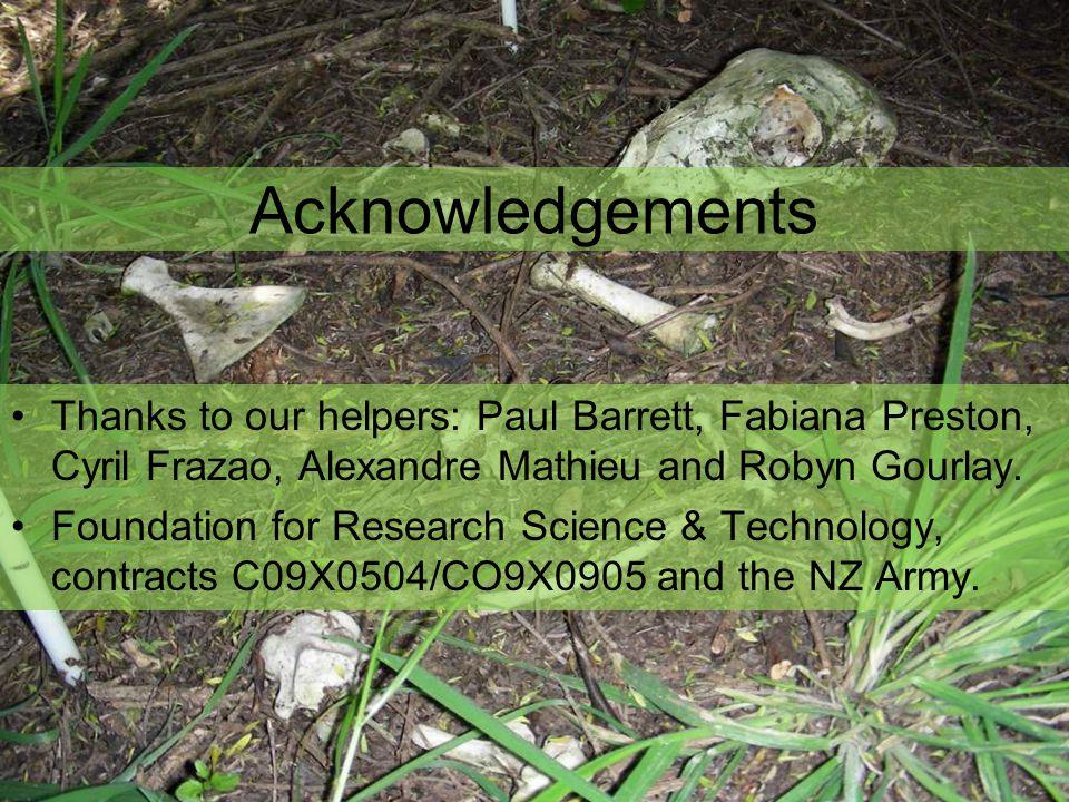 Thanks to our helpers: Paul Barrett, Fabiana Preston, Cyril Frazao, Alexandre Mathieu and Robyn Gourlay.
