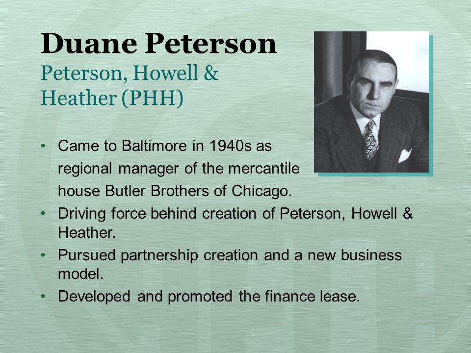 Jim Rallo Peterson, Howell & Heather (PHH) Testified before U.S.