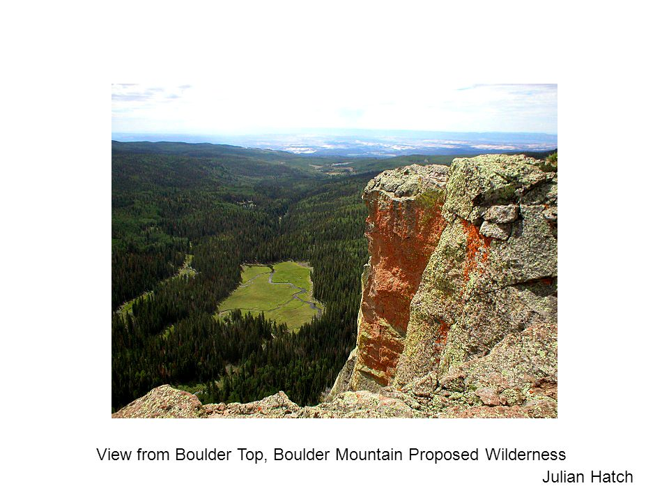 View from Boulder Top, Boulder Mountain Proposed Wilderness Julian Hatch
