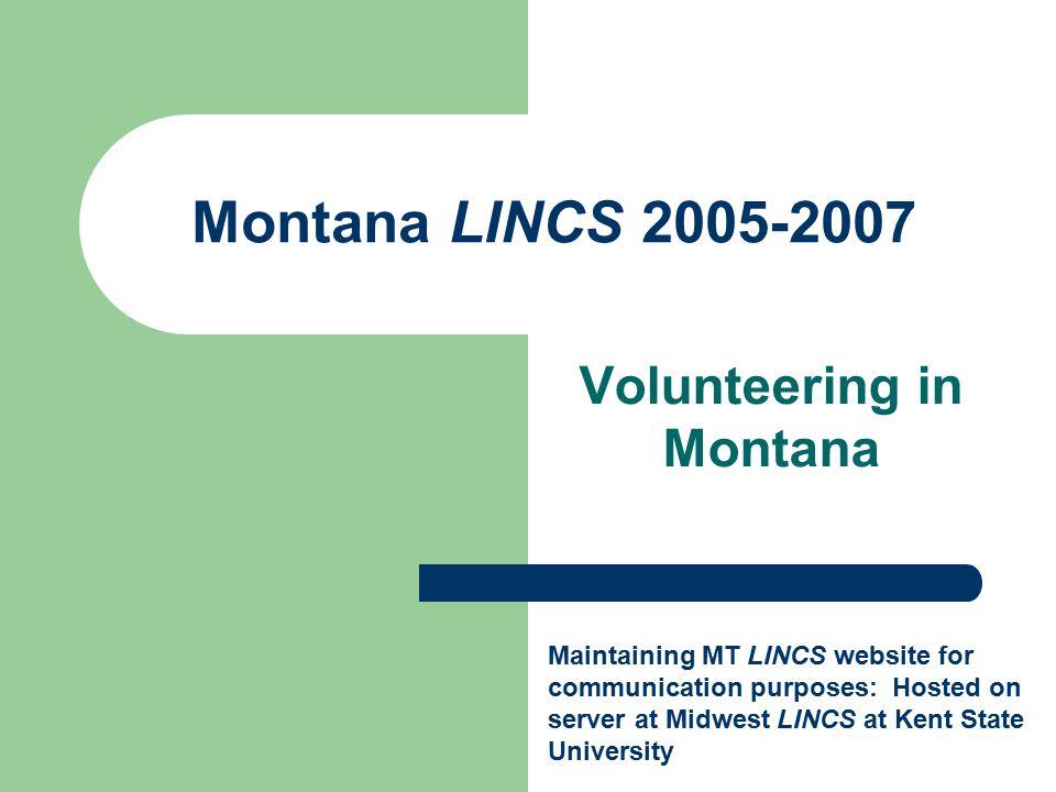 MT LINCS Pilot Project 2004-2005 Online Activities