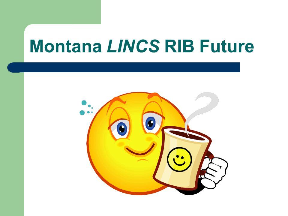 Montana LINCS RIB Statistics 10/07 Page Views366 Average Views per Day 8 Visits total169 Visits per day4 Average Length of visit 6 min.