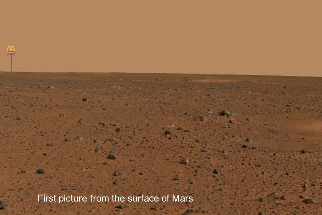 First picture from the surface of Mars