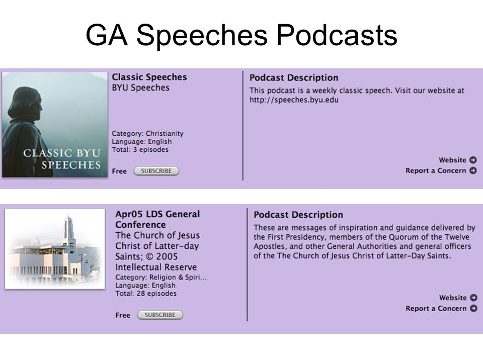 GA Speeches Podcasts