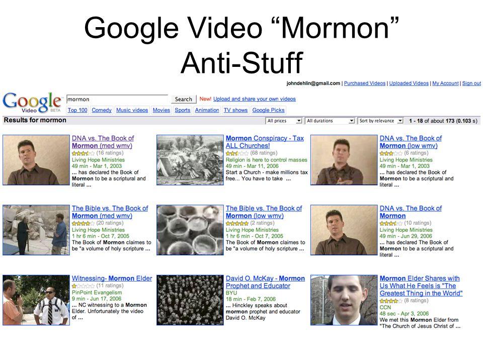 Google Video Mormon Anti-Stuff