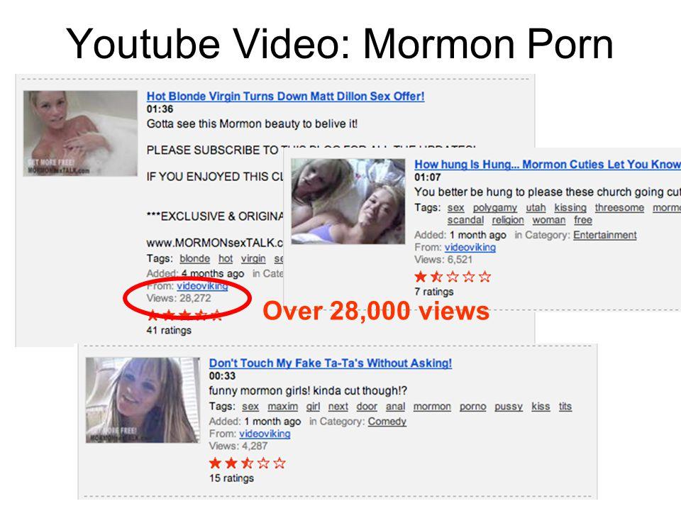 Youtube Video: Mormon Porn Over 28,000 views