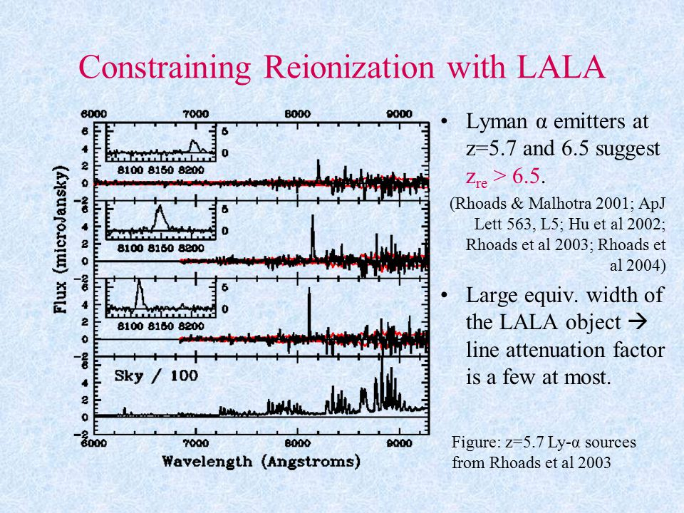 Constraining Reionization with LALA Lyman α emitters at z=5.7 and 6.5 suggest z re > 6.5.