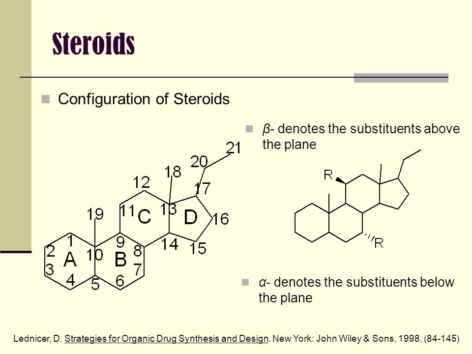 Steroids Cholesterol is the metabolic starting point for endogenous synthesis of all other steroids.