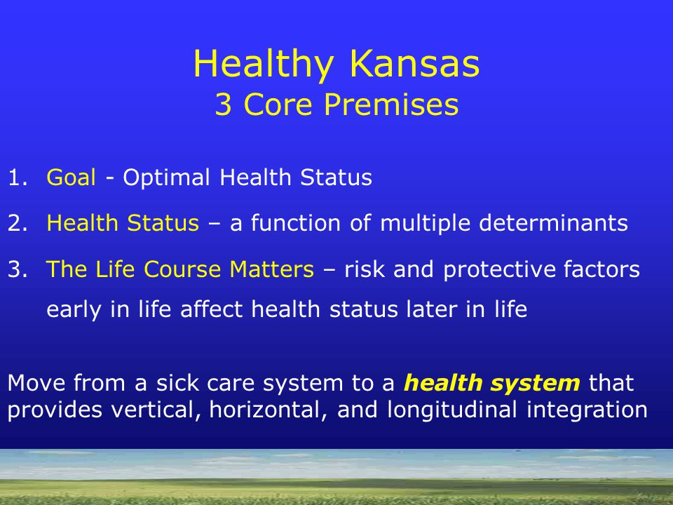 Healthy Kansas Premise 3: Role of Life Course Development Source: Mark A.