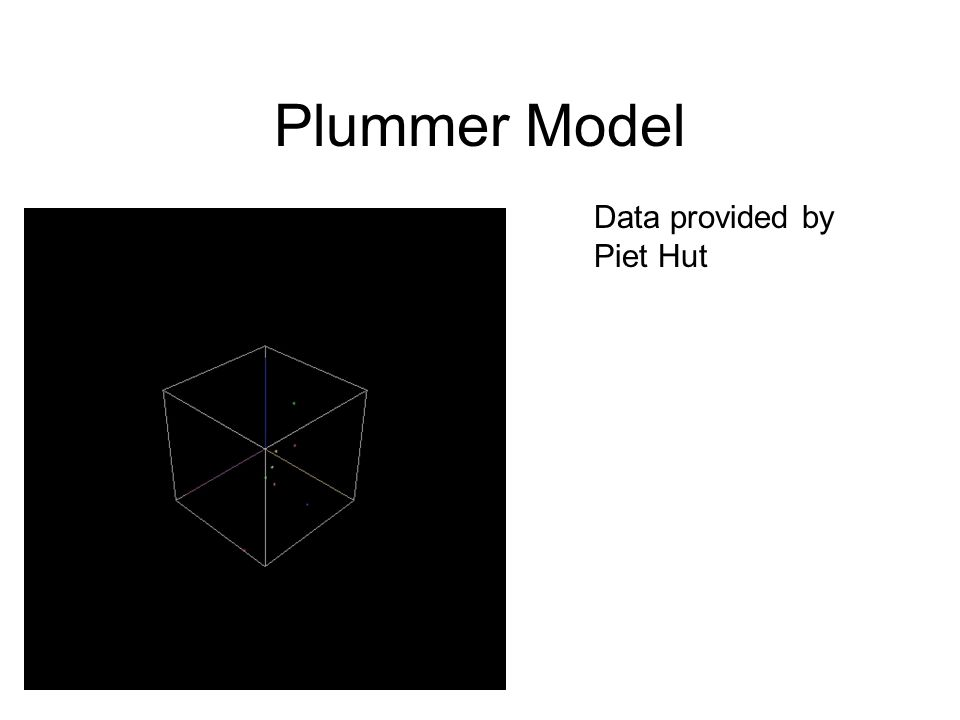 Plummer Model Data provided by Piet Hut