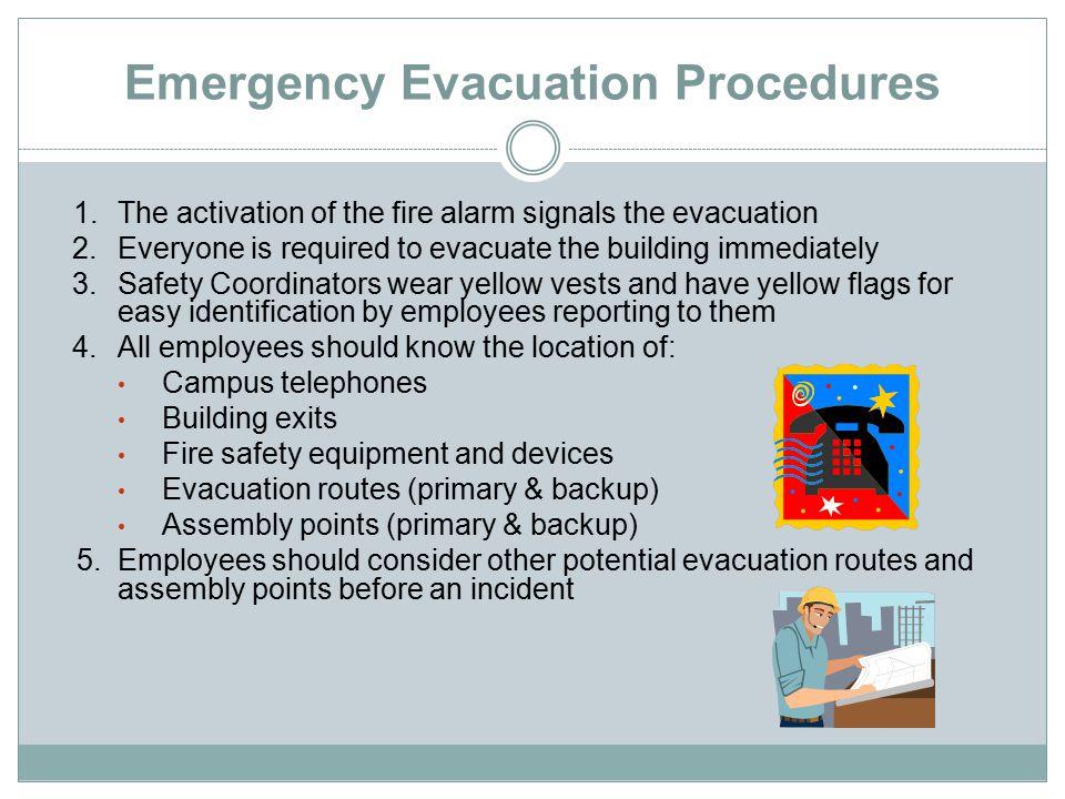 Emergency Evacuation Procedures 6.