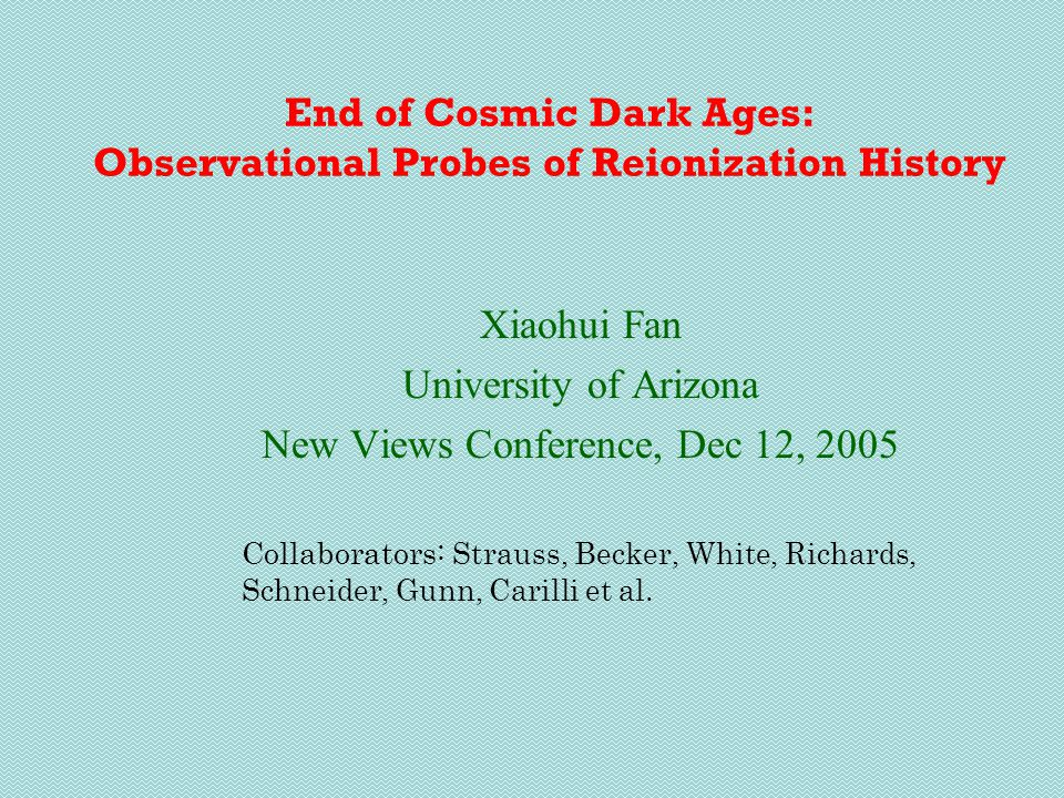 Reionization History with Feedback all models normalized to  e = 0.17 H 2 -cooling redshift electron fraction Photo-heatingMetal Enrichment By introducing highly efficient star formation at z>10, and feedback effect to subsequent star formation, models can fit both GP and polarization results Haiman and Holder 2003