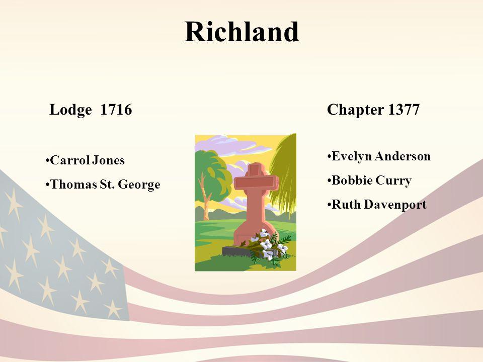 Richland Lodge 1716 Carrol Jones Thomas St.