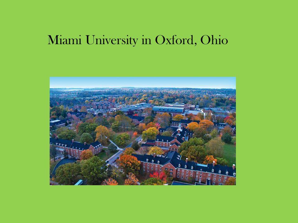 Miami University in Oxford, Ohio