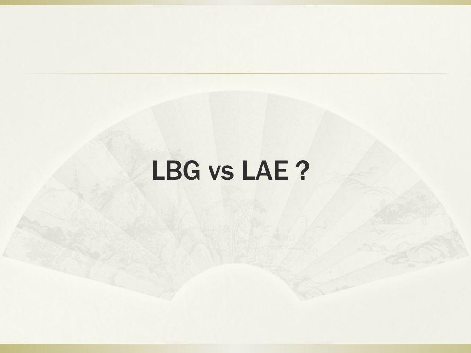 LBG vs LAE