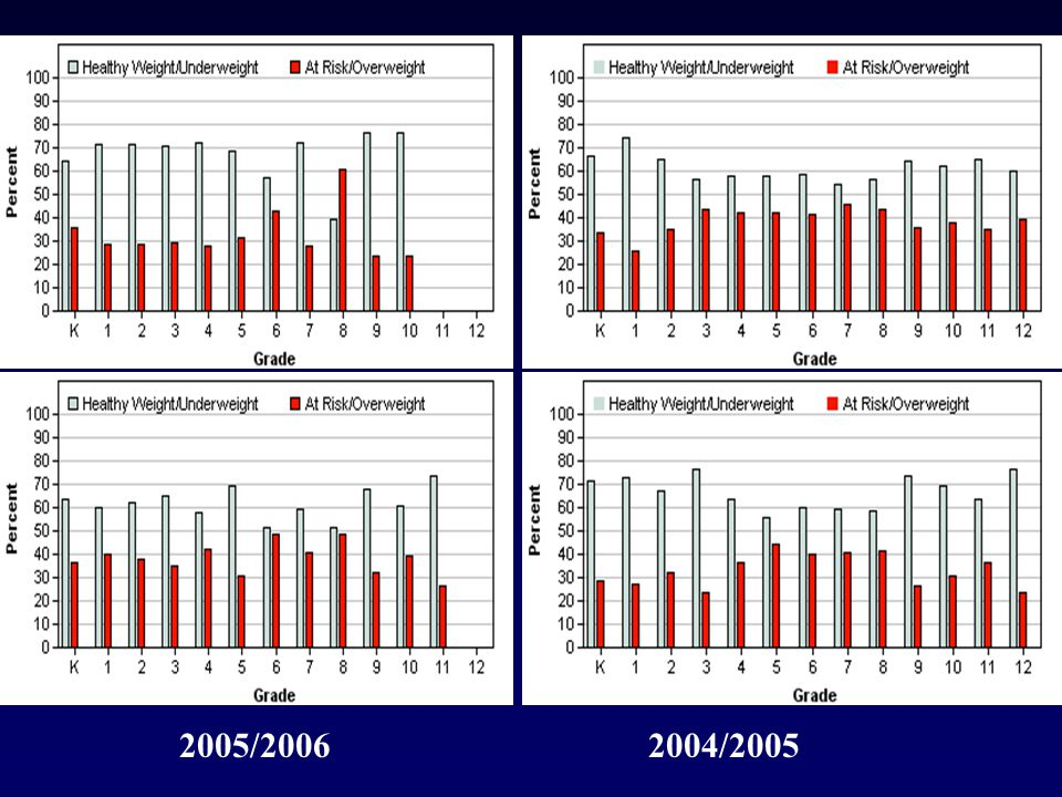 2004-05 Overweight - 20 2005/20062004/2005