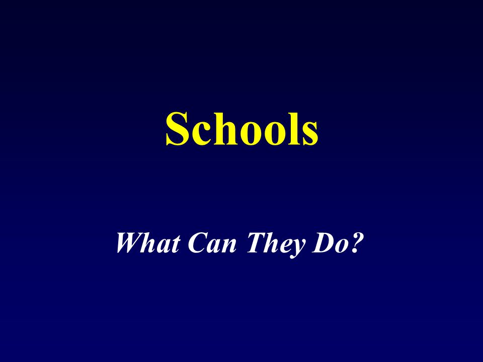 Increase activity –After school programs –Phys Ed per week Vending machines School lunches Be accountable Measure your kids!