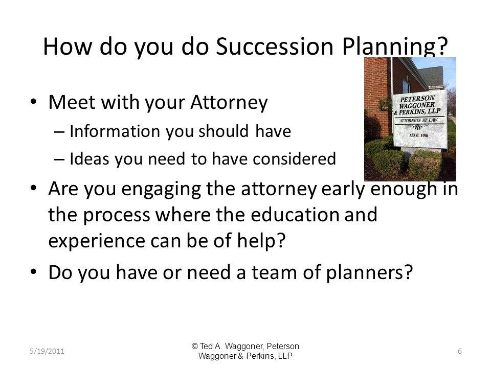 How do you do Succession Planning.