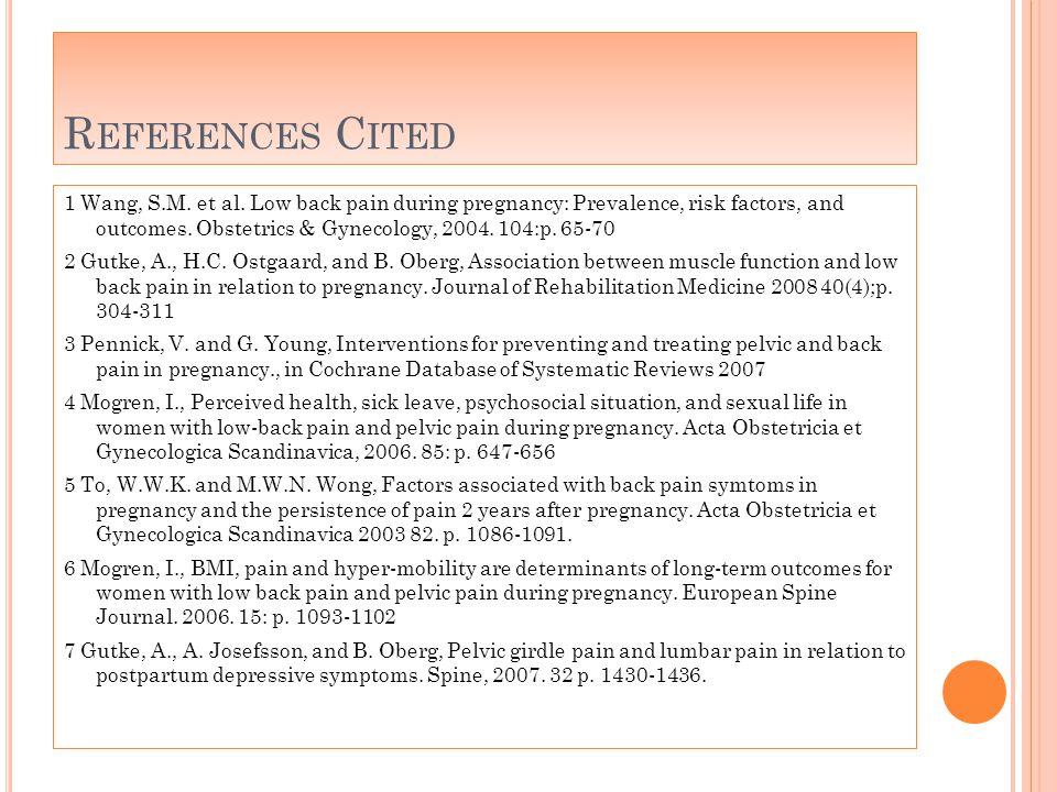 R EFERENCES C ITED 1 Wang, S.M. et al.