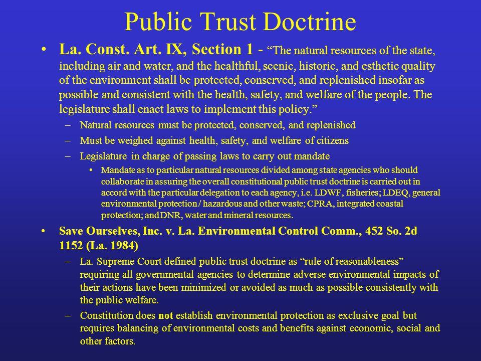 Public Trust Doctrine La. Const. Art.