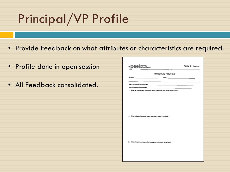 Provide Feedback on what attributes or characteristics are required.