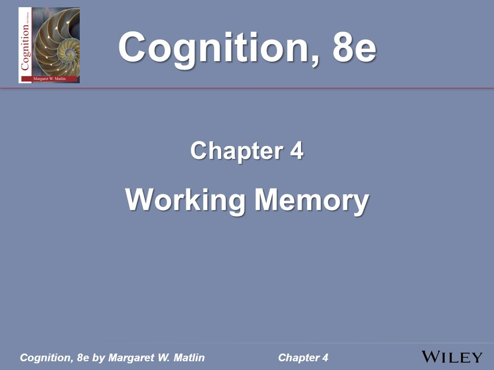 Cognition, 8e by Margaret W. MatlinChapter 4
