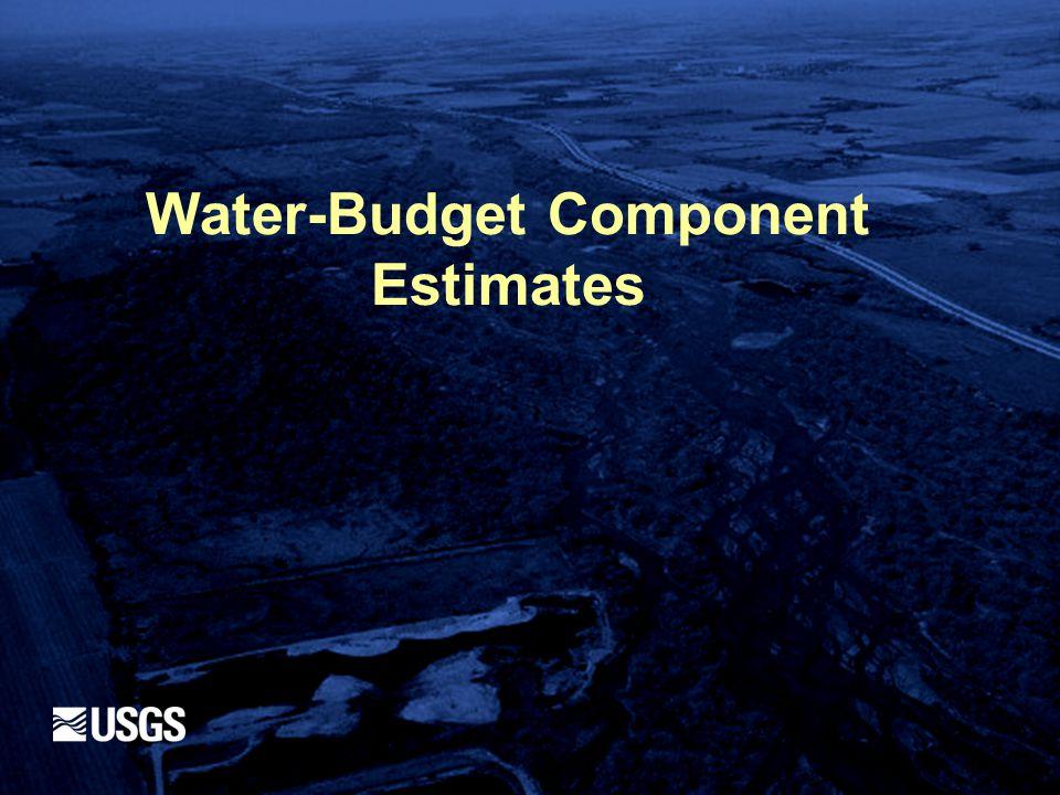 Water-Budget Component Estimates