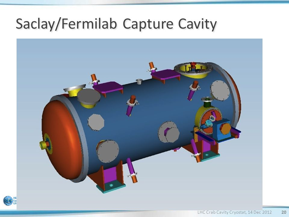 Saclay/Fermilab Capture Cavity LHC Crab Cavity Cryostat, 14 Dec 201220