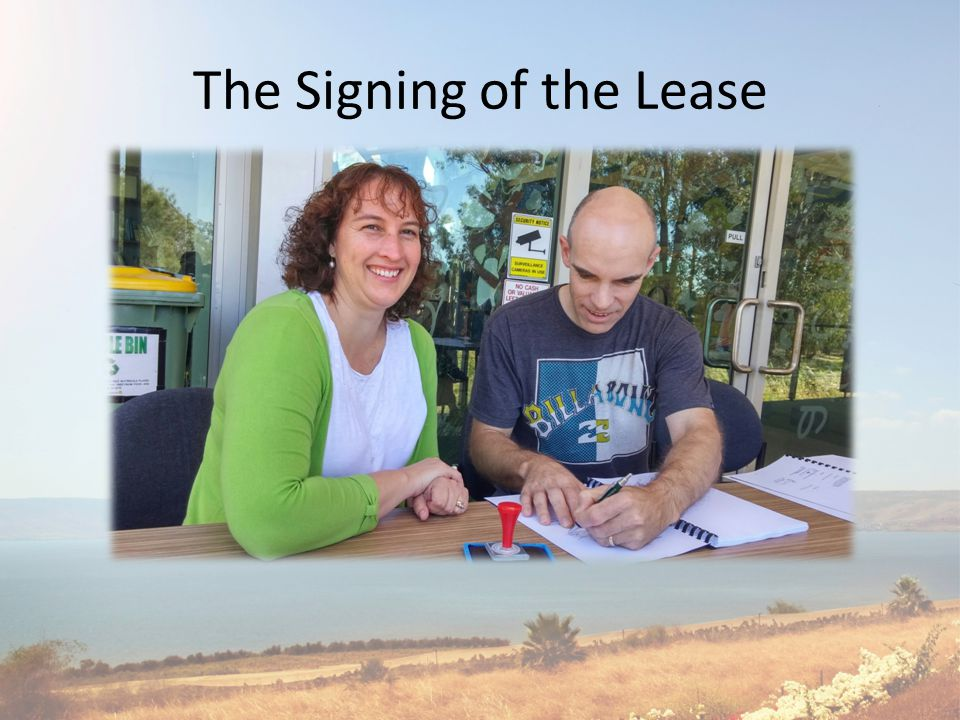 The Signing of the Lease