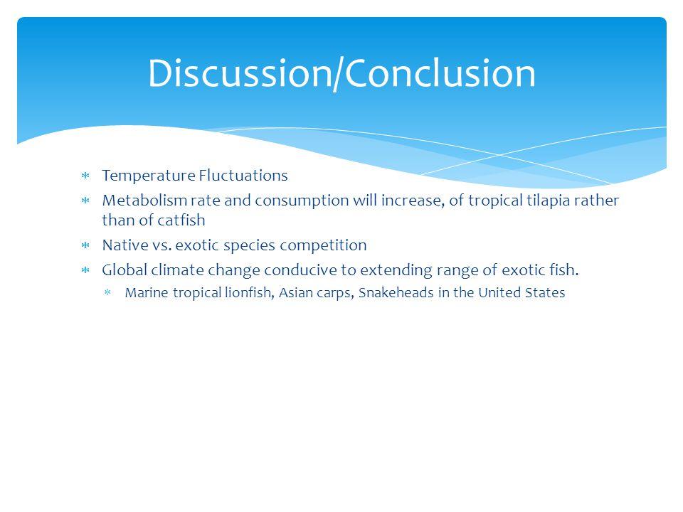  http://tolweb.org/Ictalurus_punctatus  http://aquafind.com/info/TilapiaLinks.php  http://www.fao.org/fishery/culturedspecies/Ictalurus_ punctatus/en  http://efotg.sc.egov.usda.gov/references/public/WY/B io_No_303.pdf  http://www.microponics.net.au/?p=181  http://www.news.com.au/features/environment/quee nsland-fish-species-migrating-south-due-to-climate- change/story-e6frflp0-1225907524941 http://www.news.com.au/features/environment/quee nsland-fish-species-migrating-south-due-to-climate- change/story-e6frflp0-1225907524941  http://aqua.ucdavis.edu/DatabaseRoot/pdf/282FS.PDF  http://www.fao.org/fishery/culturedspecies/Oreochro mis_niloticus/enhttp://www.dpi.nsw.gov.au/fisheries/ pests-diseases/freshwater-pests/species/tilapia http://www.fao.org/fishery/culturedspecies/Oreochro mis_niloticus/enhttp://www.dpi.nsw.gov.au/fisheries/ pests-diseases/freshwater-pests/species/tilapia  http://4.bp.blogspot.com/_rPDimn5dnfE/SW2PgvvCw xI/AAAAAAAAEHQ/SrysSWr3MrM/s400/fishing.jpg Works Cited