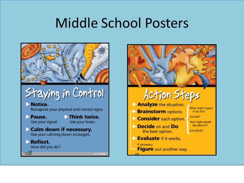 Middle School Posters