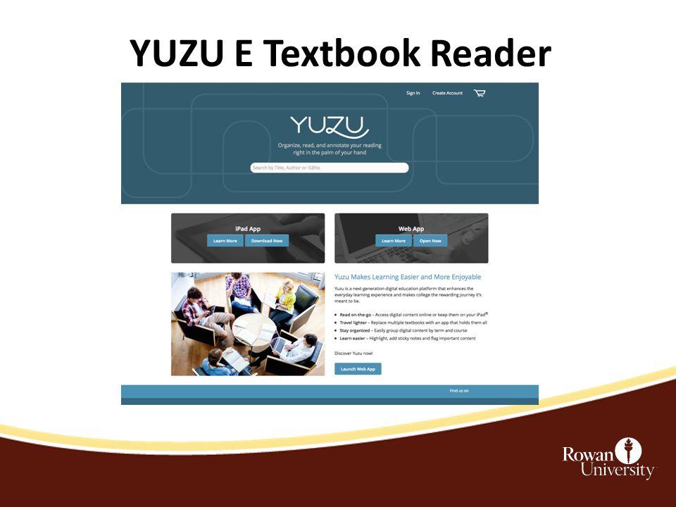 YUZU E Textbook Reader