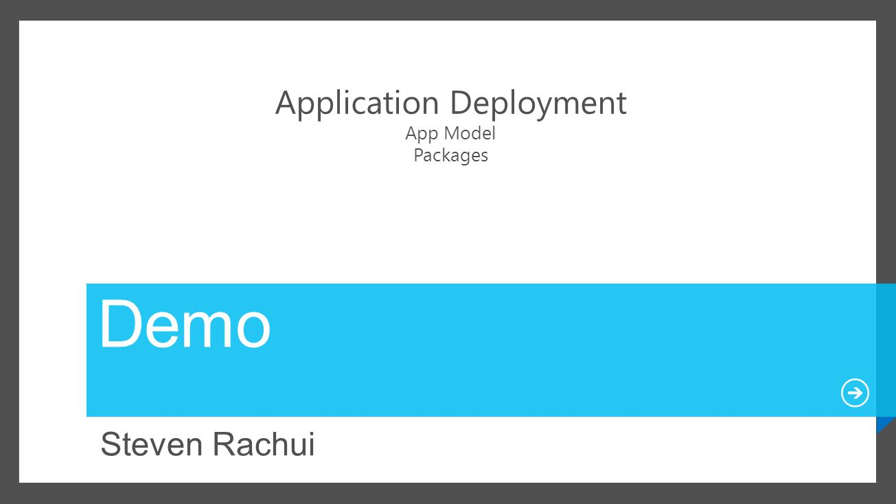 Application Deployment App Model Packages