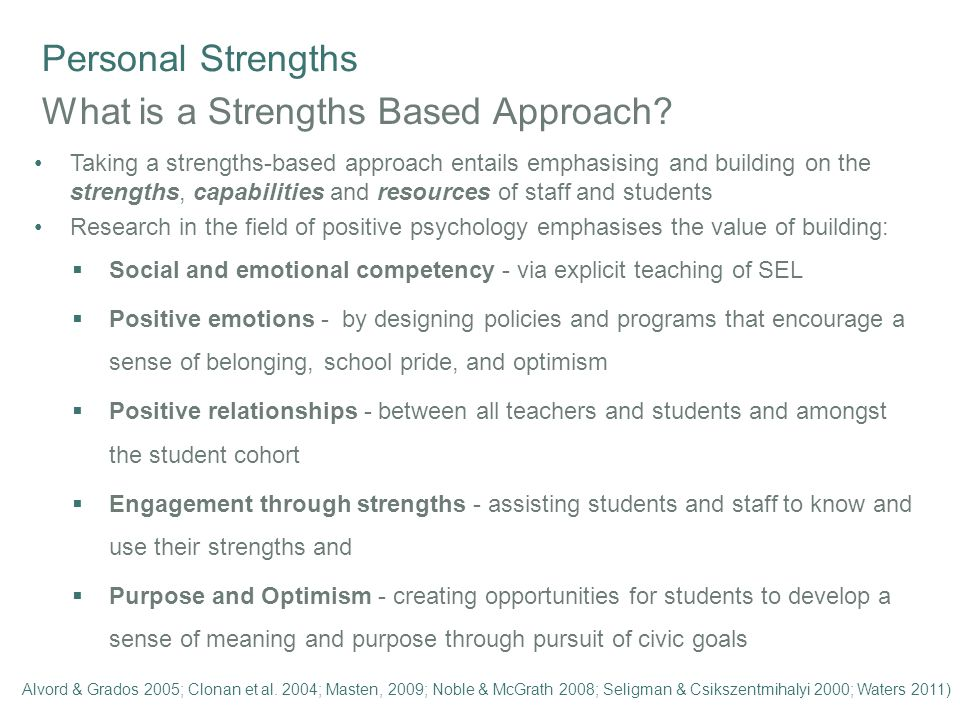 Personal Strengths What is Positive Psychology.