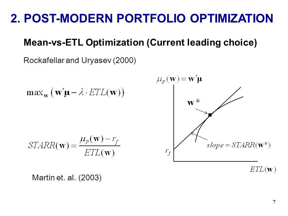 2.POST-MODERN PORTFOLIO OPTIMIZATION 7 Martin et.