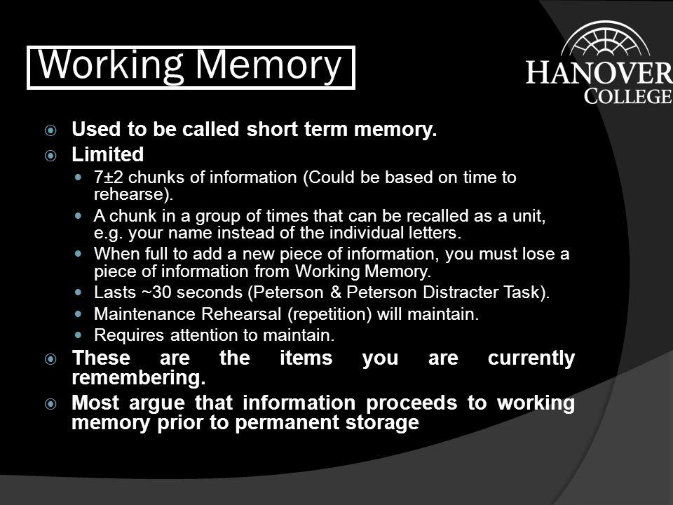 Short-term Sensory Store - 2  Echoic Memory: the short-term sensory store for audition.